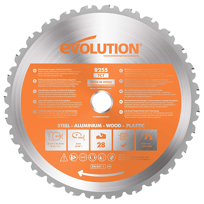 Evolution list testere 255mm multi EVO255-MULTI